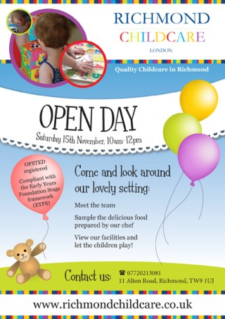 Flyer for nursery open day